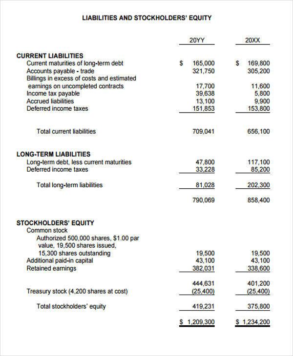 construction billing statement