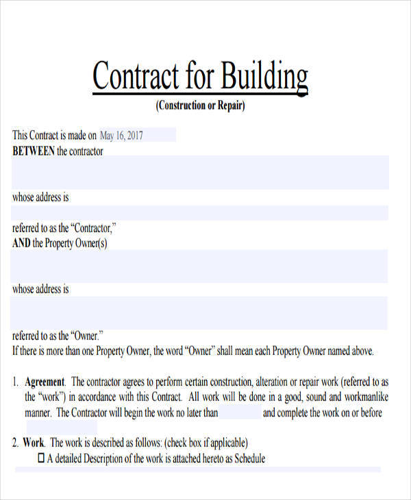 construction building contract1