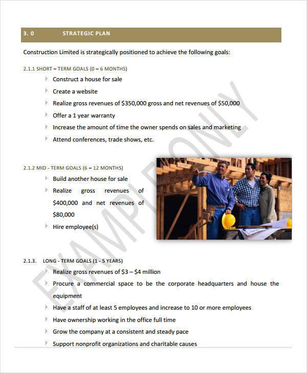 construction business plann