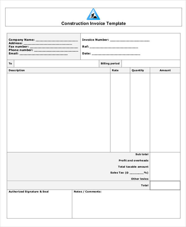 construction company receipt11