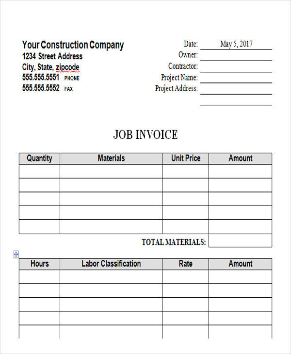 44 blank invoice samples sample templates