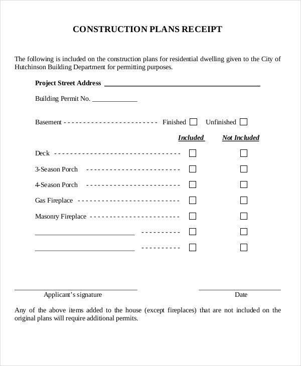 construction plan receipt1