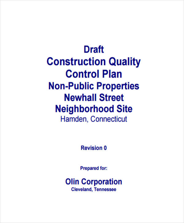 construction quality control plan