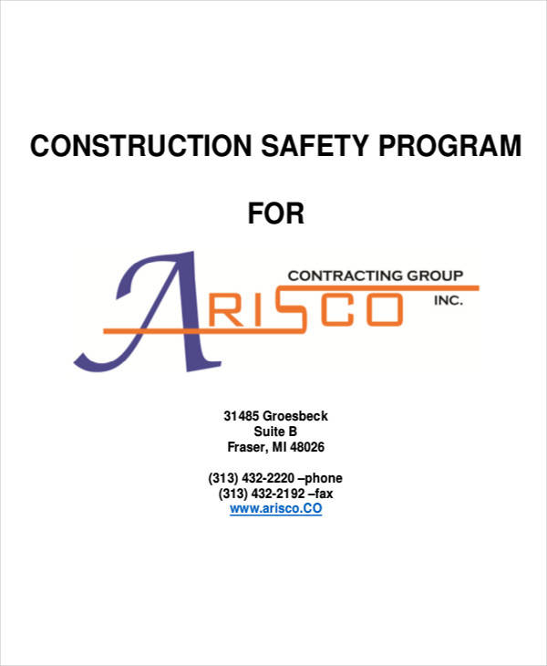 Safety Program Samples  Free Sample Example Format Download