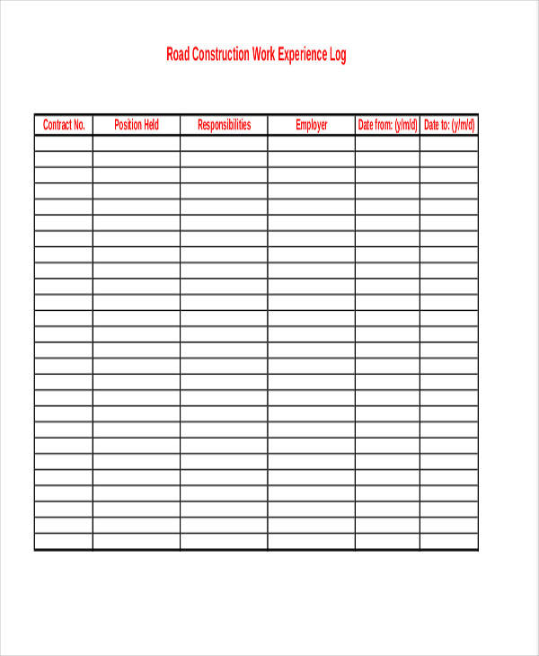 39 free log templates sample templates. Black Bedroom Furniture Sets. Home Design Ideas