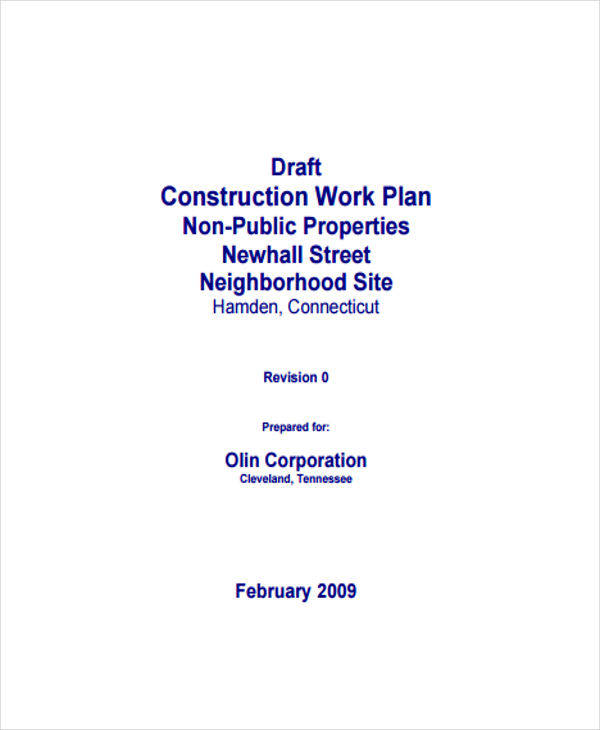 construction work plan