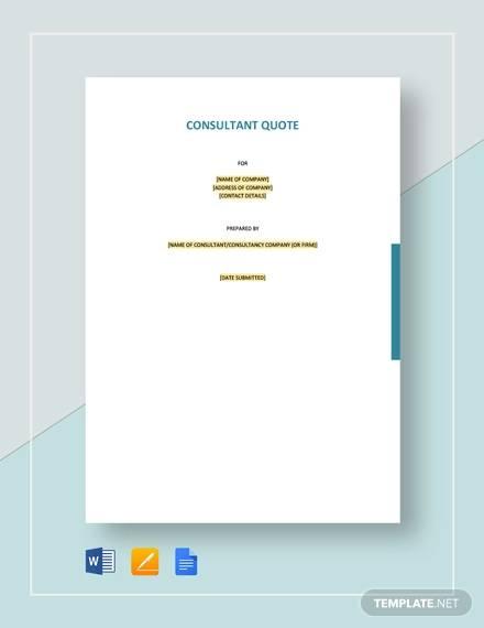 consultant quotation template1
