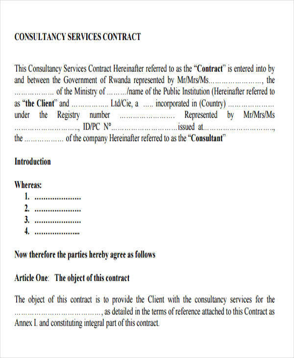consulting services contract1