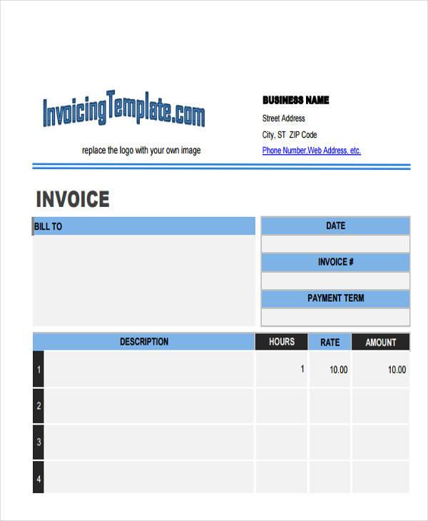 contractor labour invoice