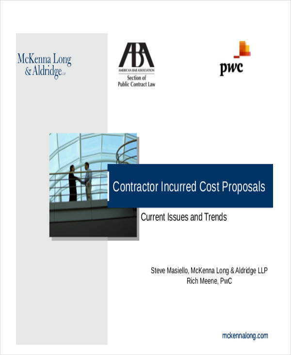 cost proposal for contractor