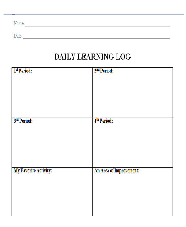 Learning log template pictures to pin on pinterest pinsdaddy for Avid learning log template