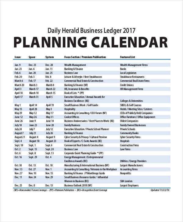 daily planner calendar template