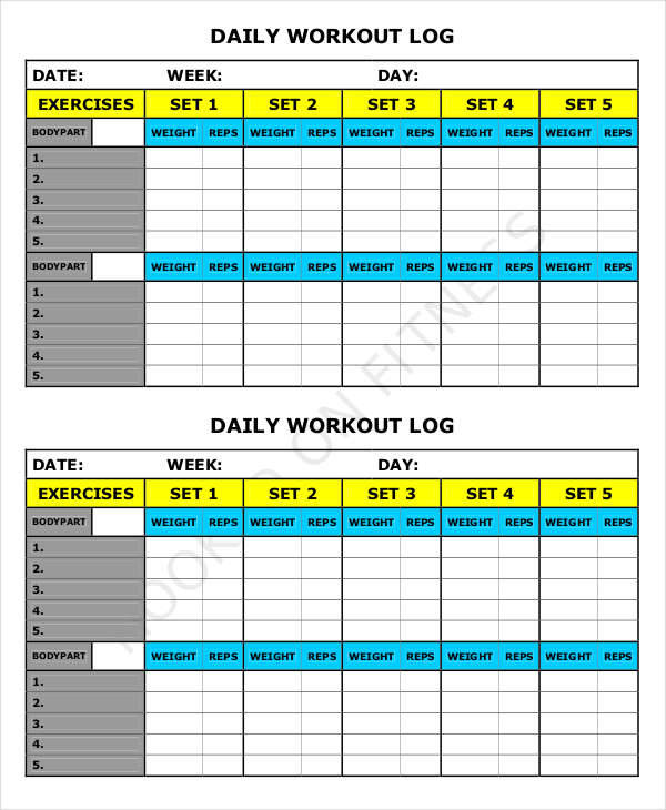 daily workout log2