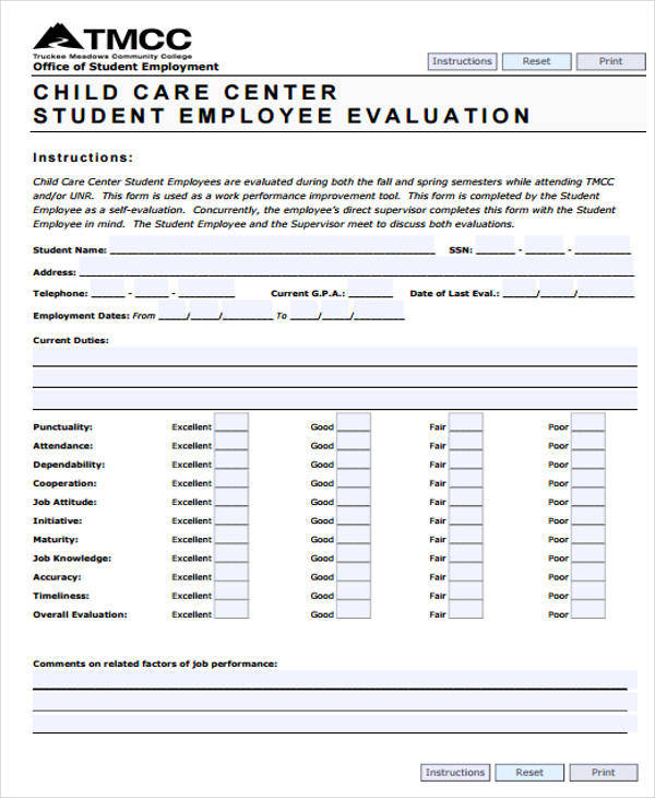 16+ Employee Evaluation Forms In Pdf