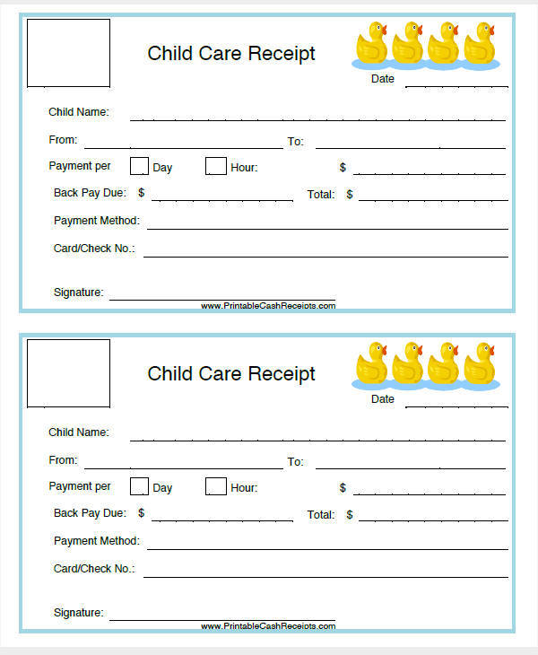 Daycare Invoice Templates  Examples In Word Pdf