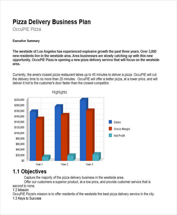 Free courier service business plan template