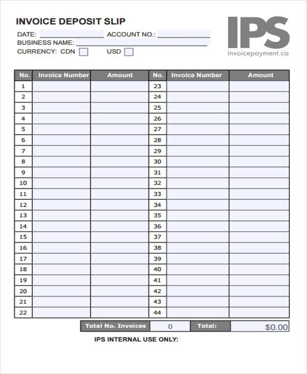 deposit invoice1