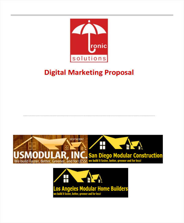 digital marketing business proposal