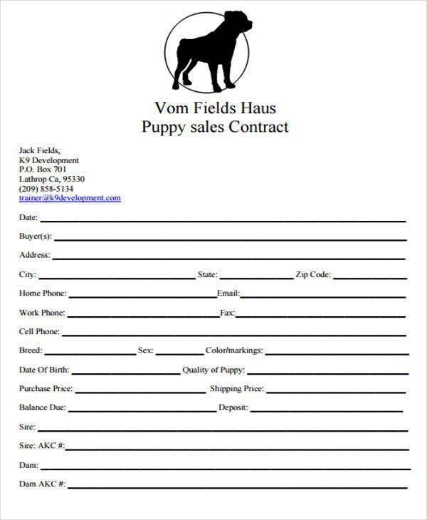 dog puppy sales