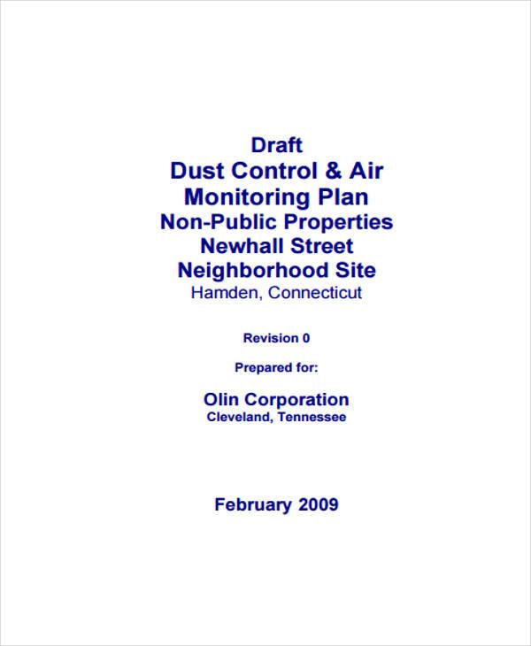 dust control plan