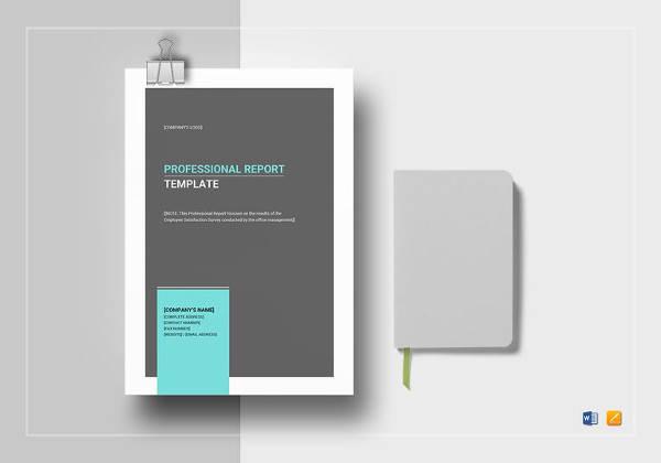 editable professional report template