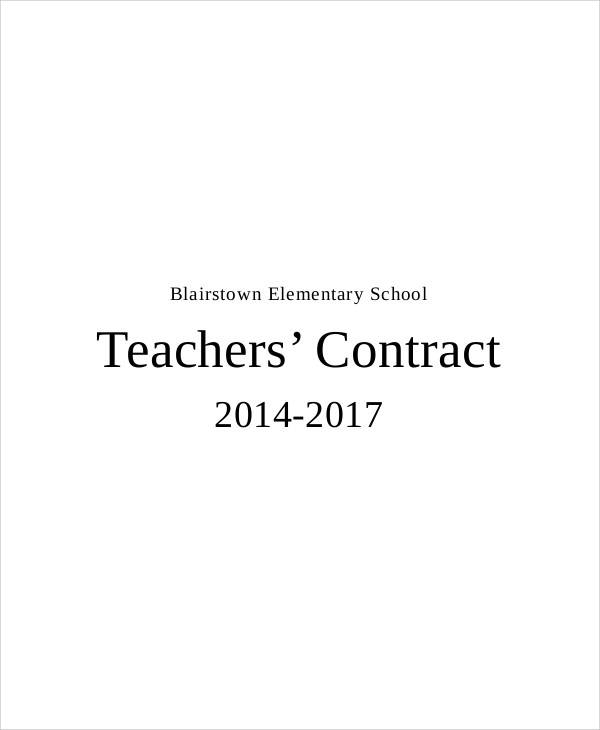 elementary teacher contract1