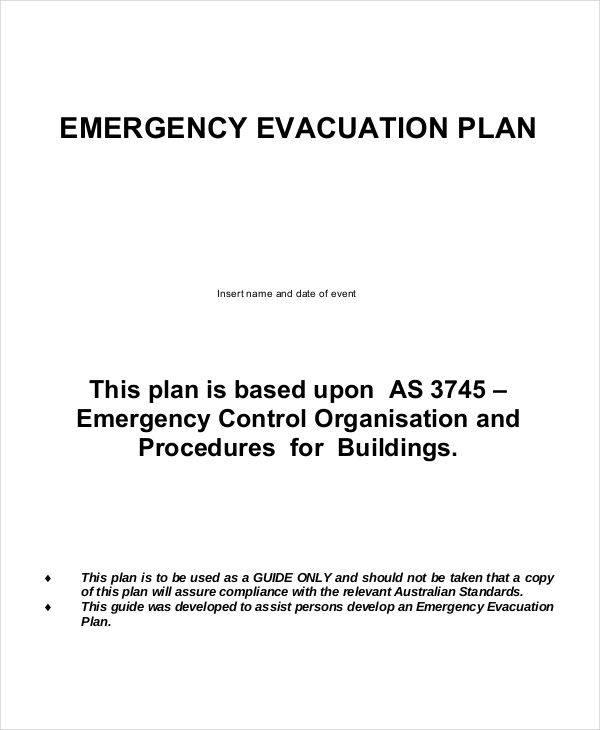 7 evacuation plan samples templates sample templates. Black Bedroom Furniture Sets. Home Design Ideas