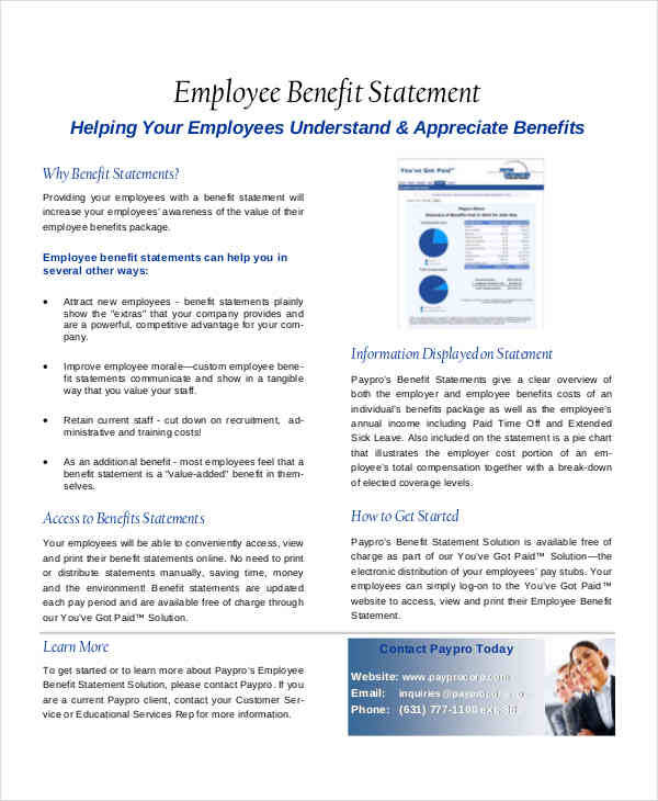 employee benefit statement