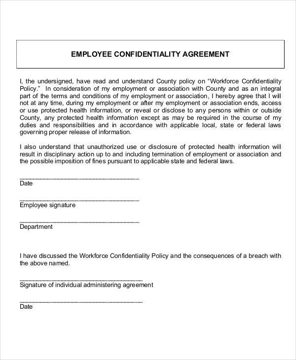 employee confidentiality policy