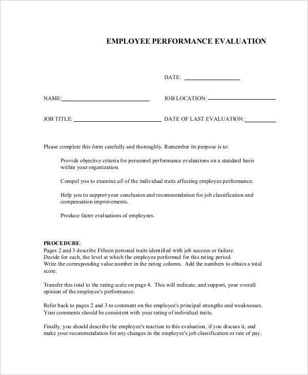 employee performance evaluation form1