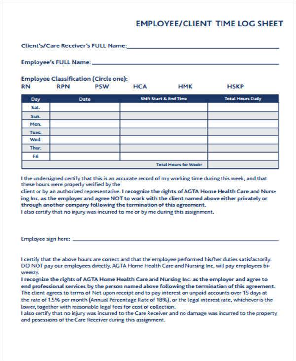 employee time log sheet1