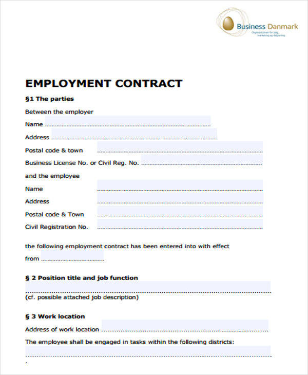 employment job contract
