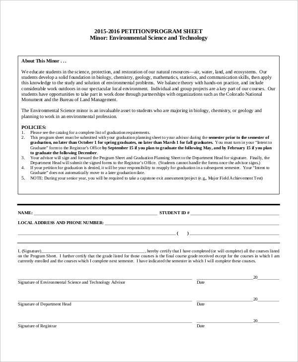 environmental science petition