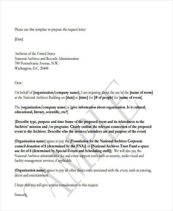 event organizing proposal letter