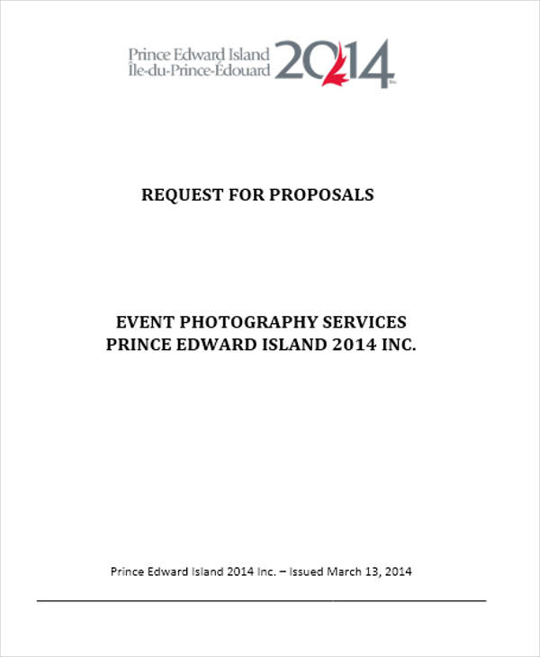 42 Event Proposal Templates in Doc – Photography Proposal Template