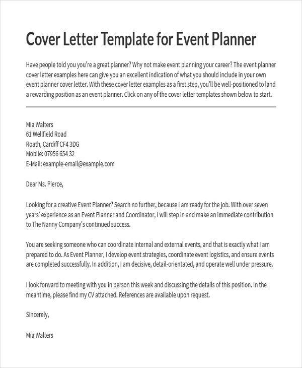 18  event proposal letters samples  u0026 templates
