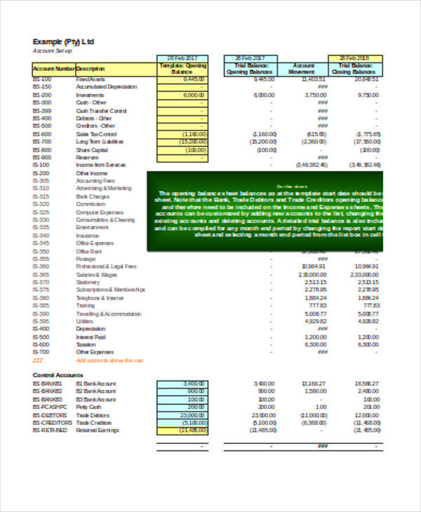 excel basic accounting spreadsheet