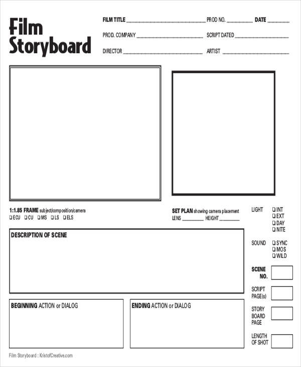 Film Storyboards  Free Sample Example Format Download