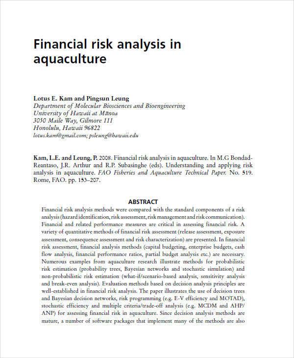 financial risk1