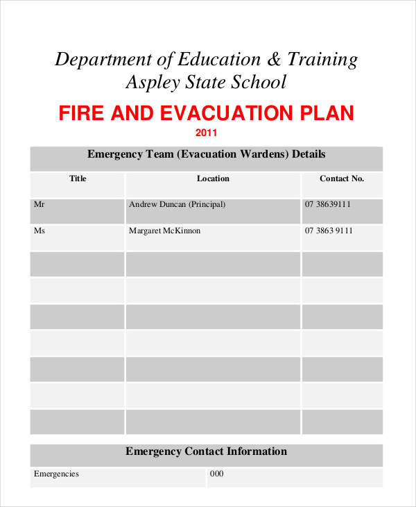 6 Evacuation Plan Samples Templates In Pdf