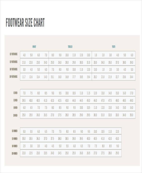 footwear size chart1