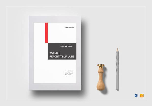 formal report template in psd
