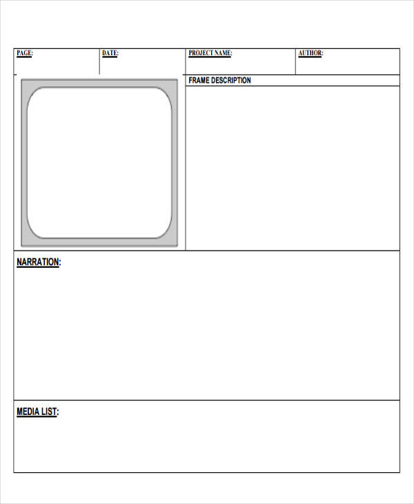 free digital storyboard template