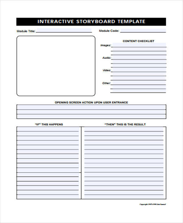 5 interactive storyboards examples in pdf sample templates free interactive storyboard maxwellsz