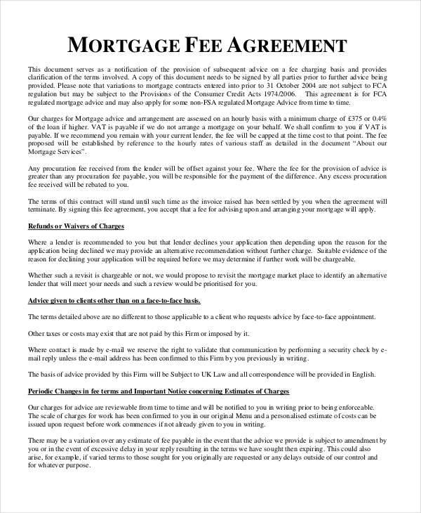 free mortgage contract1