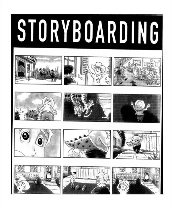 Visual Storyboard Sample  Examples In Word Pdf
