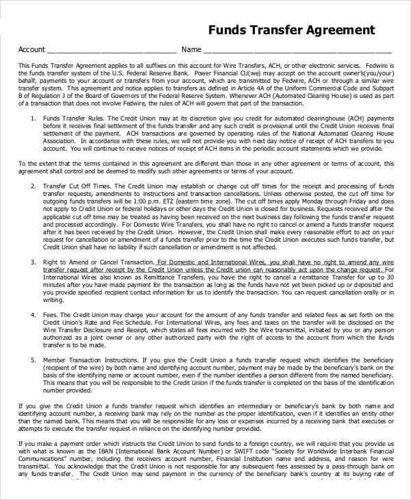 Transfer Agreement  Free Sample Example  Format Download