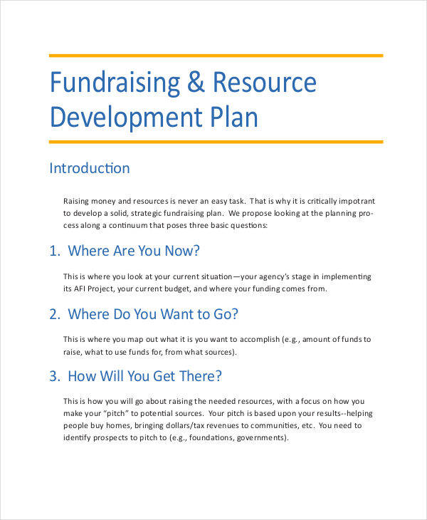Fundraising business plan template 28 images 6 for Fundraising strategic plan template