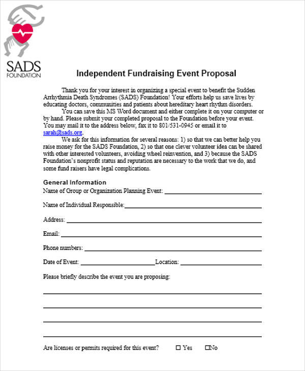 fundraising event planning proposal2