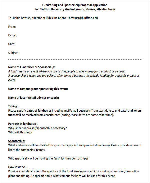 Fundraising Proposal. Fundraising Proposal Template ...